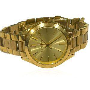 MICHAEL KORS Mini Slim Runway Gold Watch MK3512